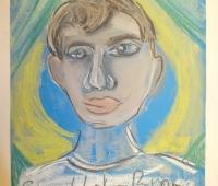 Александр, 9 лет. бумага, пастель.